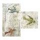 アルファベットで描くいきもの 3辺のボーダー(あ、い、う)とパイピング布 (作り方なし)斉藤謠子の 布で描くいきものたち掲載