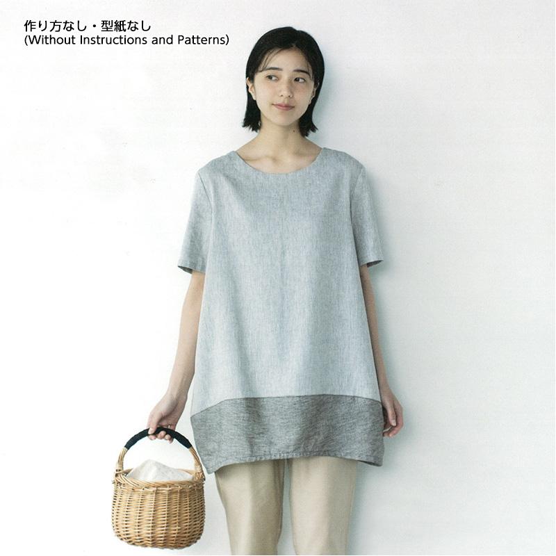 切り替えチュニック(作り方なし)斉藤謠子の いま作りたいシンプルな服とかわいい小物掲載