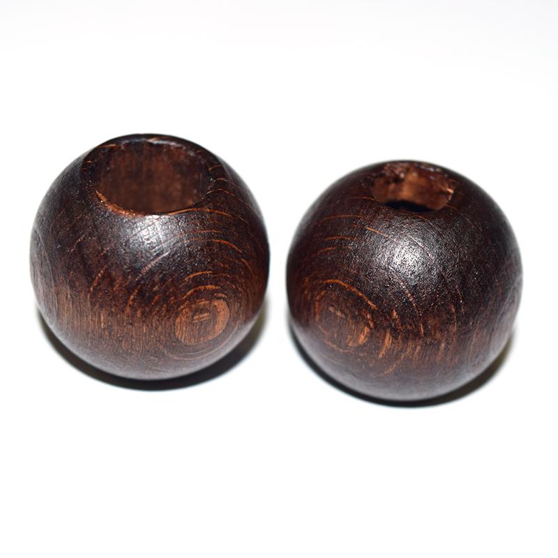 木玉(二段穴タイプ)焦げ茶 2ケセット 大