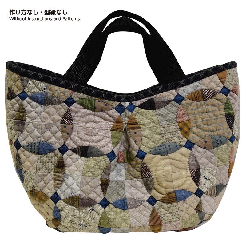 サークルパターンのタックバッグ(作り方なし) 私たちが好きなキルトのバッグとポーチ