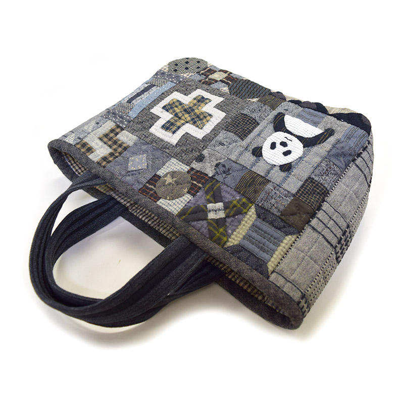 パンダのバッグ(作り方なし)布で描くいきものたち掲載