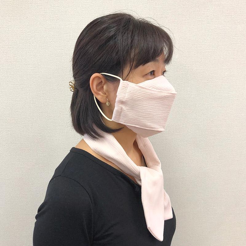 夏仕様マスクと冷却タイ