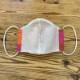 web20200820-02 夏マスクにもおすすめカラフル水玉リネン布  10cm(プレゼント付き)コーラルピンク