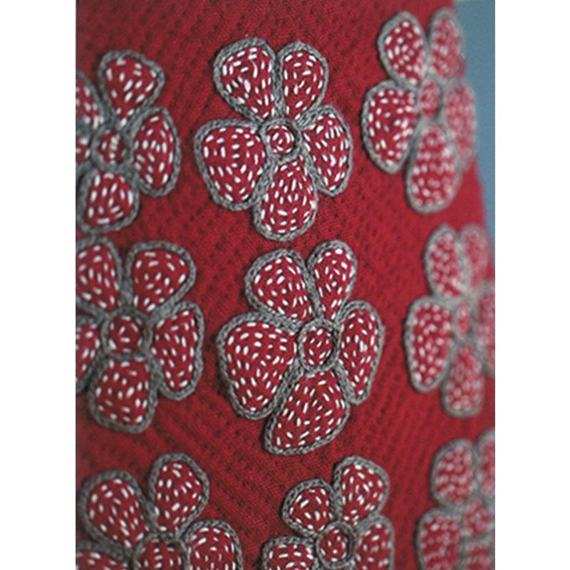 刺しゅうのポシェット(作り方なし)斉藤謠子の手のひらのいとしいもの掲載