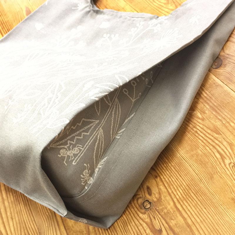フラワーボーダーで作るショッピングバッグ