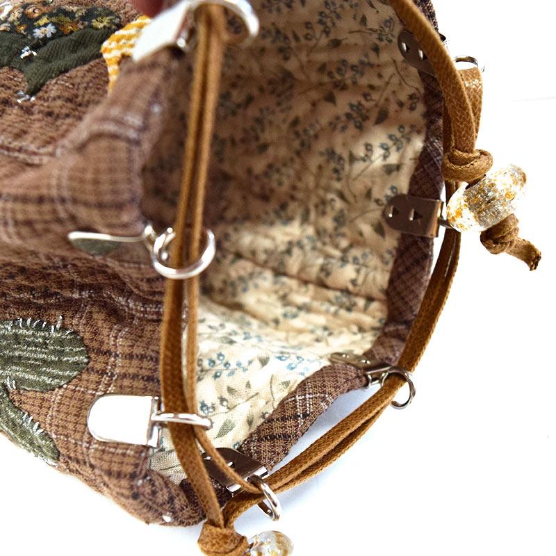 サボテンの巾着(作り方なし)私たちのキルト掲載