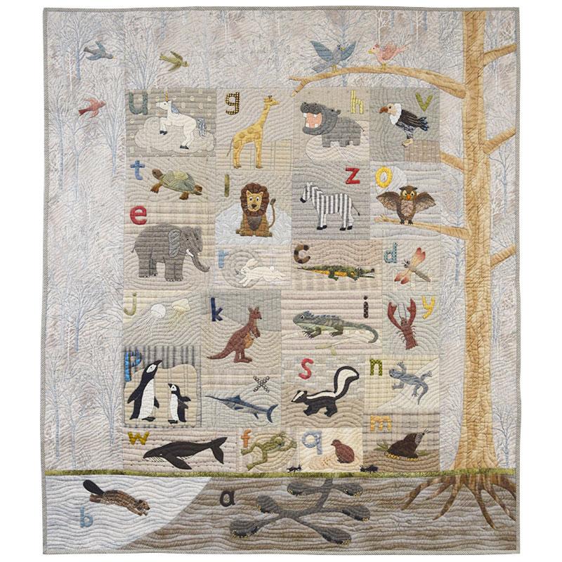 布で描くいきものたちタペストリー(作り方なし)斉藤謠子の 布で描くいきものたち掲載