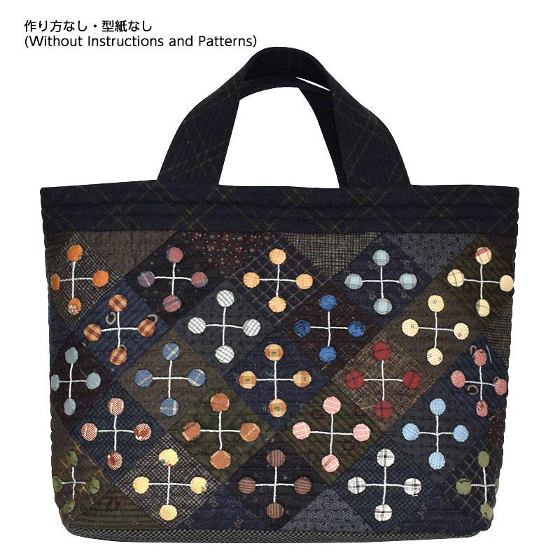 四季のトートバッグ冬のパターン(作り方なし)私たちが好きなキルトのバッグとポーチ
