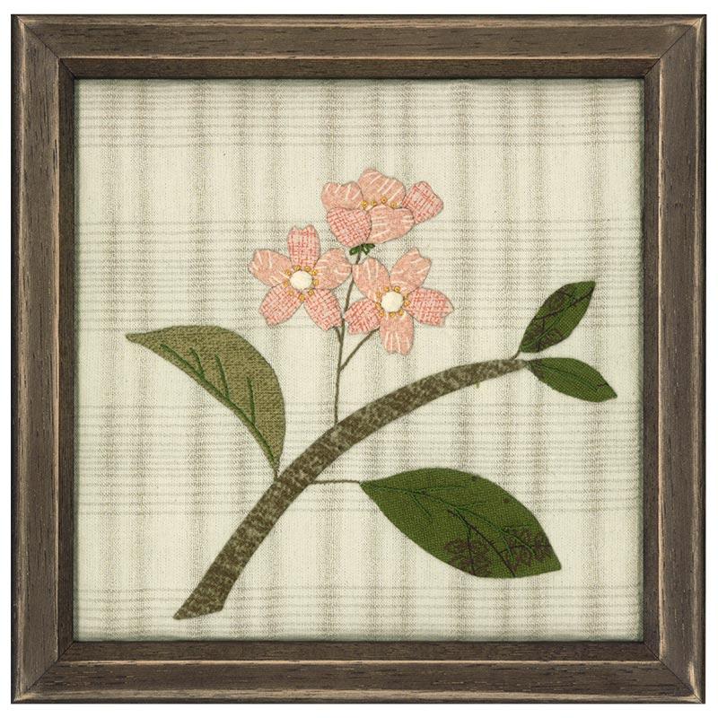 新春のミニタペストリー いのししと桜*