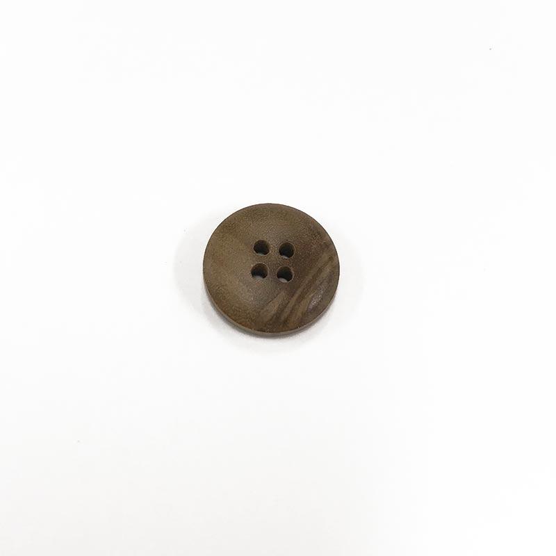 木工ボタン S ステッチ柄(四つ穴)