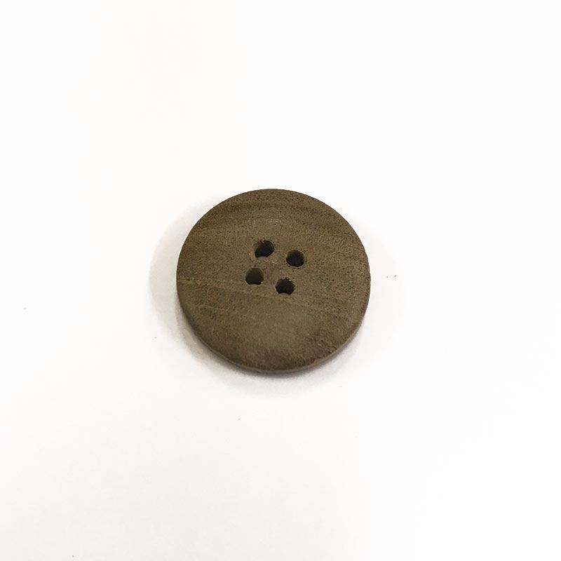 木工ボタン M ステッチ柄(四つ穴)