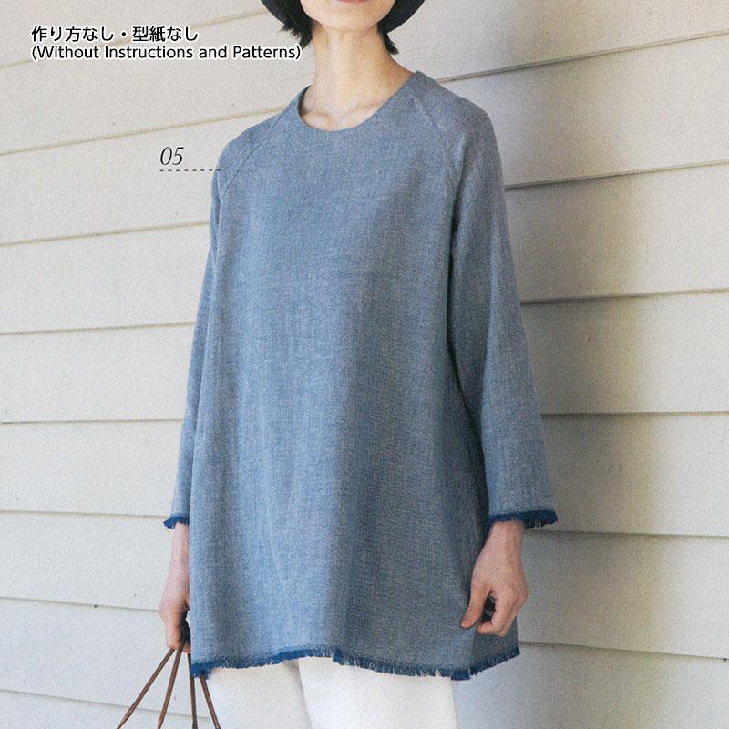 フリンジのチュニック(作り方なし)着心地かろやか 手縫いのおとな服掲載