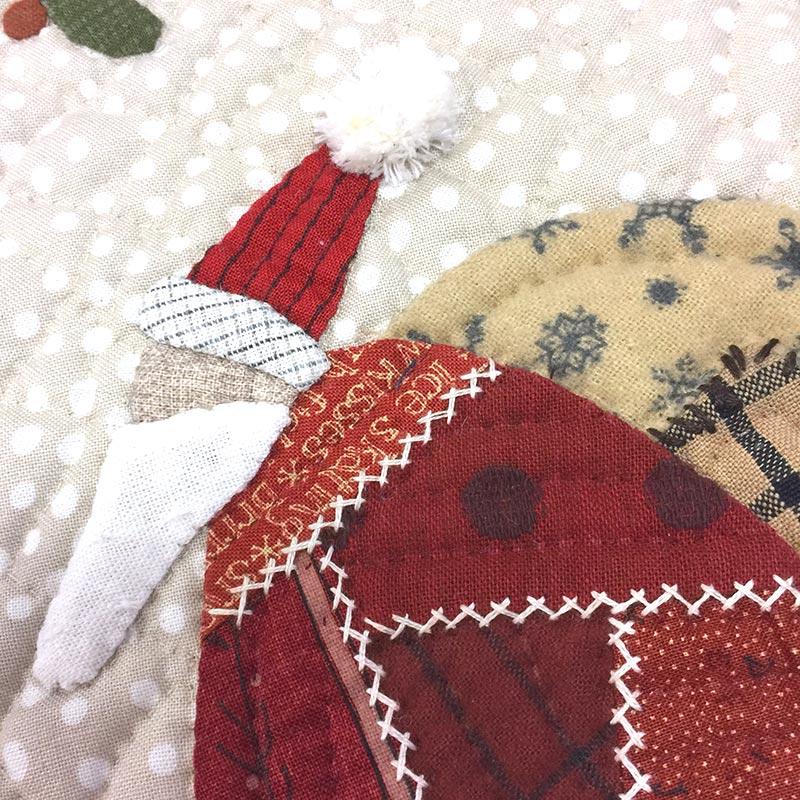 サンタとリースのタペストリー(作り方なし)斉藤謠子の手のひらのいとしいもの掲載