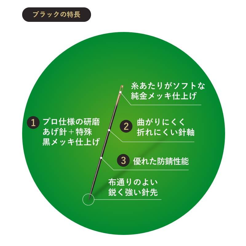 ★アップリケ針「ブラック」No.10