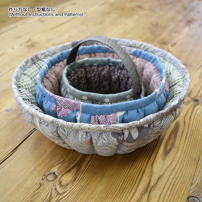 かぼちゃの小物入れa・b・c(作り方なし)斉藤謠子の いま作りたいシンプルな服とかわいい小物掲載