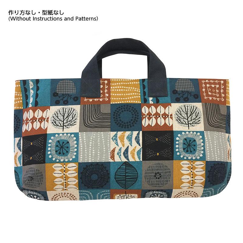 オリジナルプリントでつくる横長のバッグ(作り方なし)すてきにハンドメイド2021年7月号参照