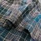 絣風チェックのギャザースカート