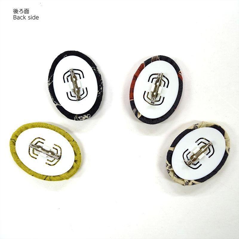 くるみボタン・ブローチセット(オーバル55mm2個入り)