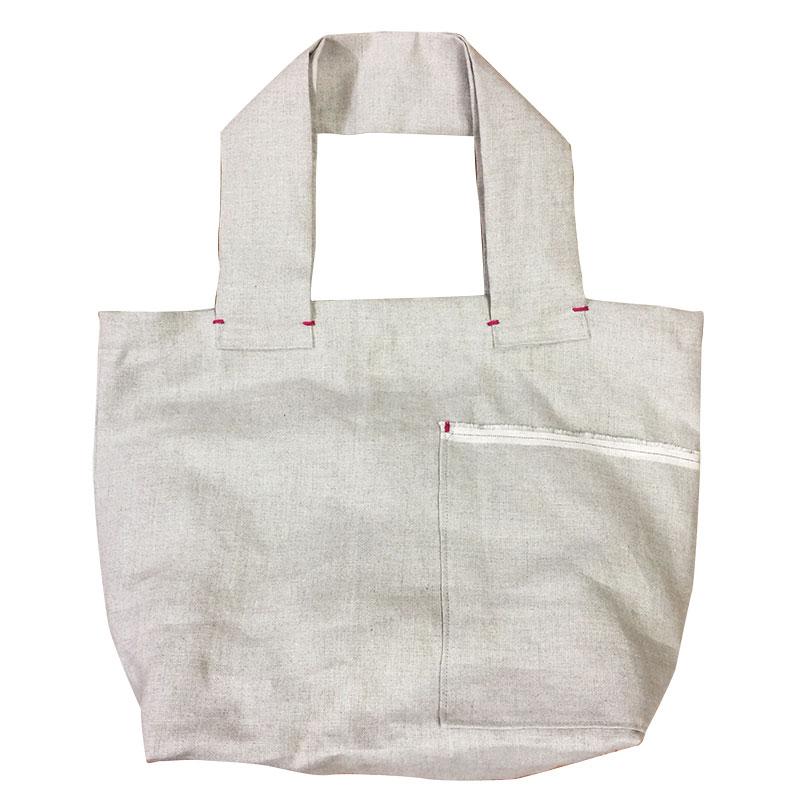 【送料無料】巾着付き横ポケットのエコバッグ