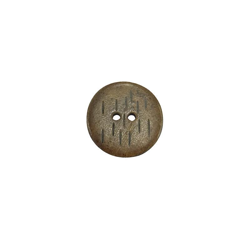 木工ボタン レイン柄