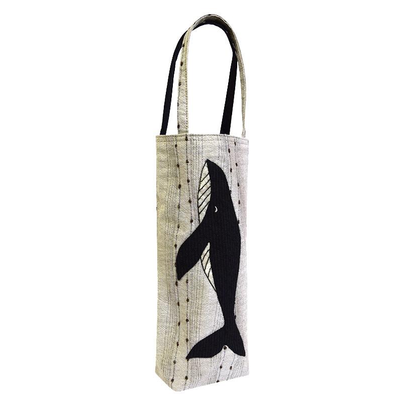くじらのバッグ(作り方なし) 布で描くいきものたち掲載