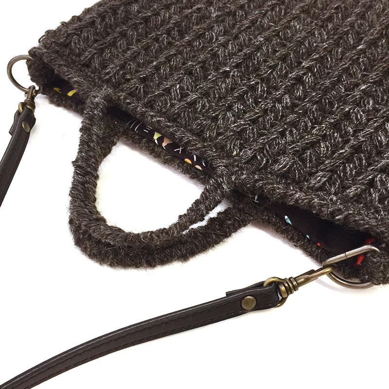 ウールのショルダーバッグ用裏布とショルダーひもセット
