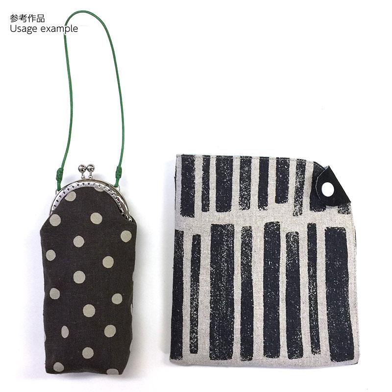 カン付き穴あき口金(縫い付けタイプ)H18-S