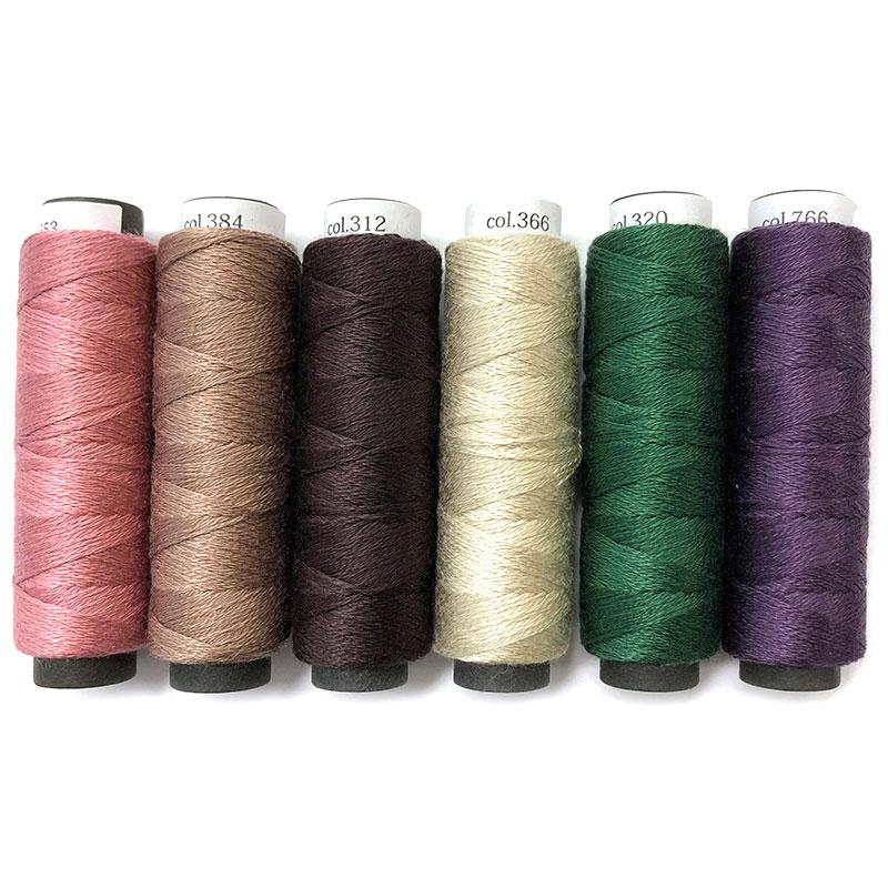 フリーステッチングおすすめ刺しゅう糸6色セット