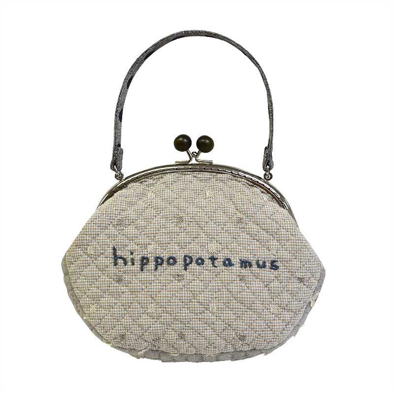 かばのがまぐちバッグ(作り方なし)布で描くいきものたち掲載