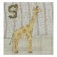 アルファベットで描くいきもの きりん しまうま (作り方なし)斉藤謠子の 布で描くいきものたち掲載
