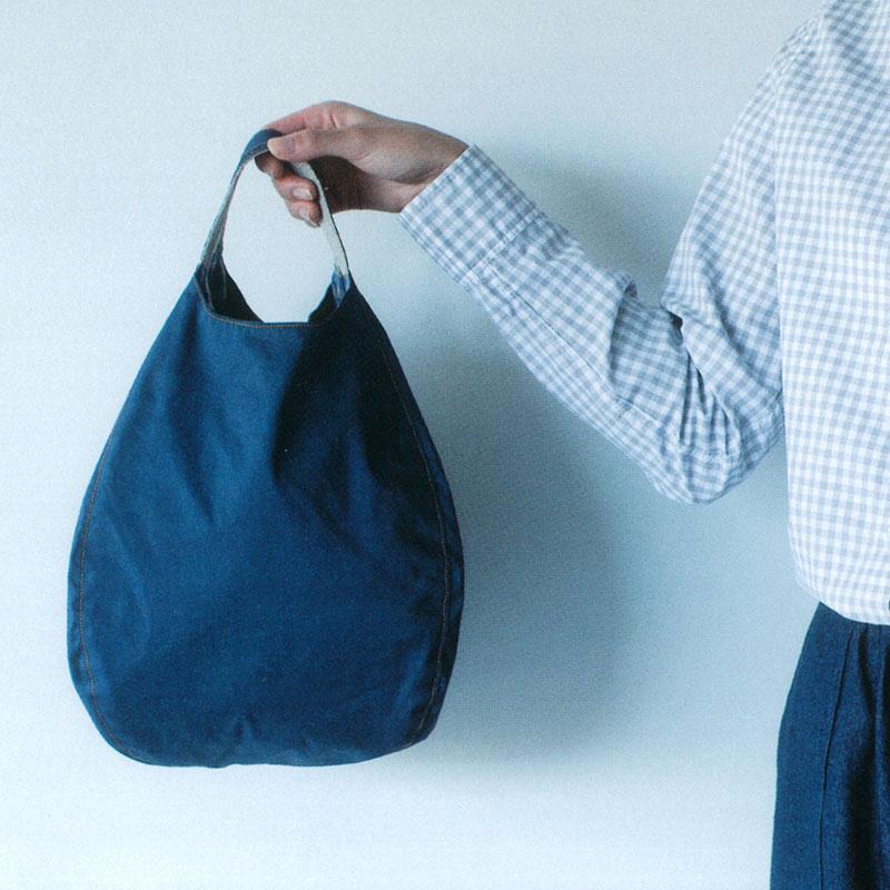 バルーンバッグb(紺)(作り方なし)斉藤謠子のいつも心地のよい服とバッグ掲載