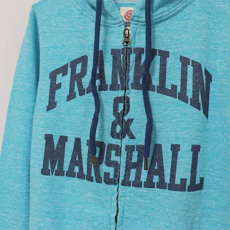 【FRANKLIN&MARSHALL】 オリジナル フード付きZIPパーカー FLWVA535S
