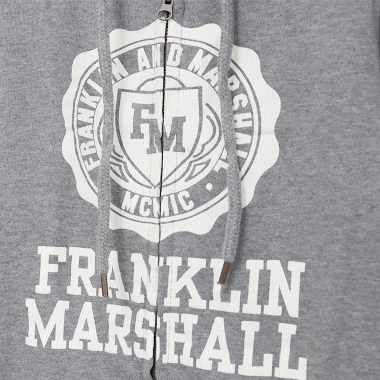 【FRANKLIN&MARSHALL】 オリジナル フード付きZIPパーカー FLWVA522X