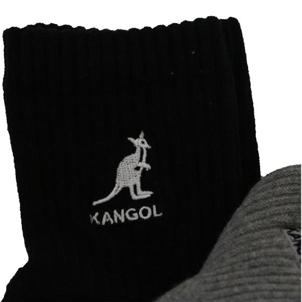 【KANGOL】靴下 3足セット ブラック ホワイト グレー アンクル丈 男女兼用 10792200 ソックス