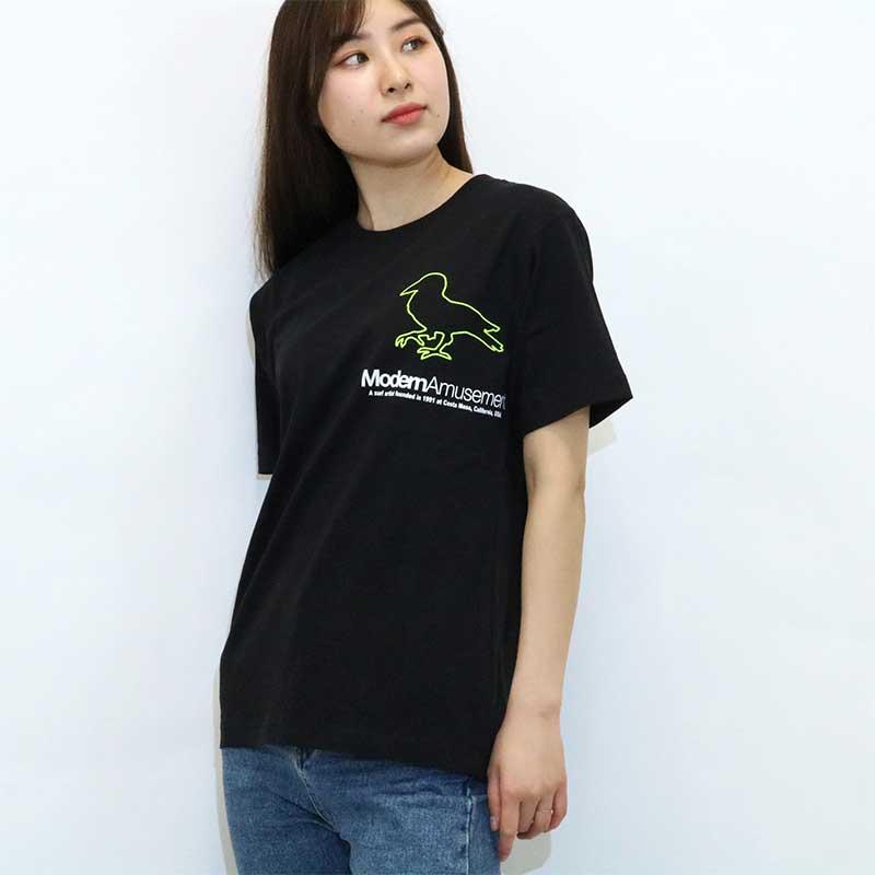 【Modern Amusement】 ロゴプリント 半袖Tシャツ 19LTN-MA009
