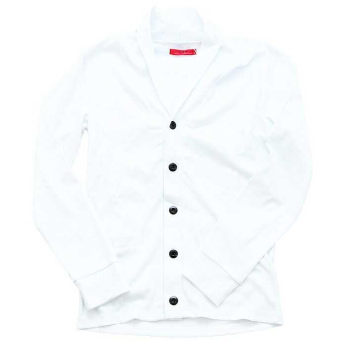 【B-S】 長袖 襟付き テレコショールカーディガン 31-H078