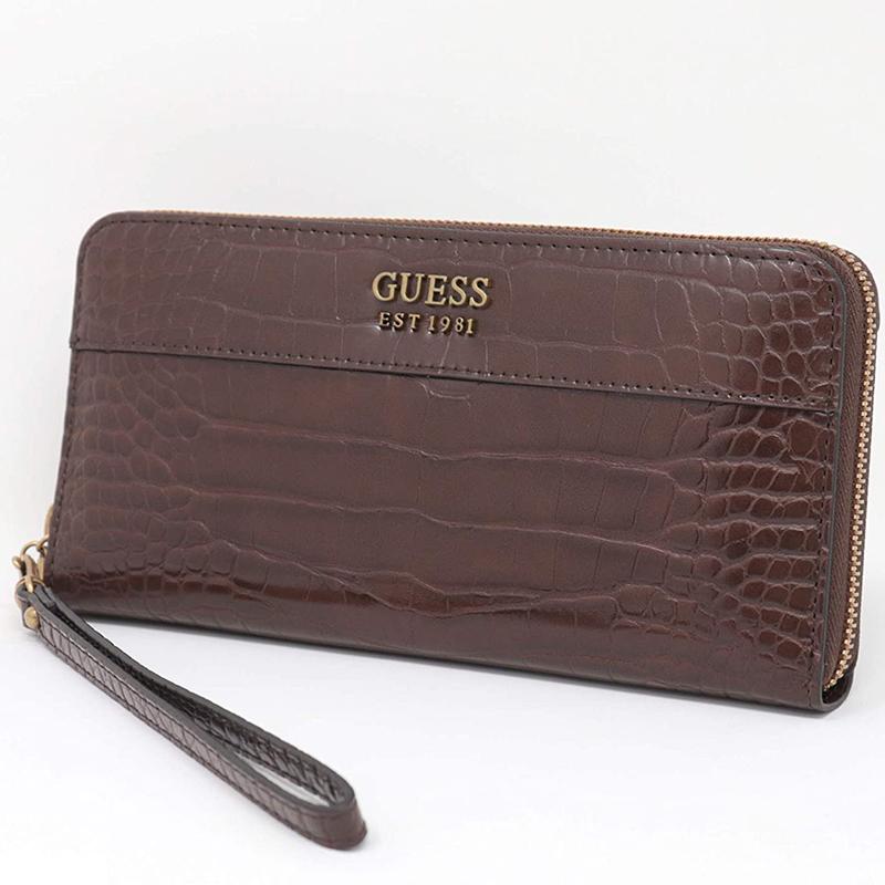 【GUESS】 長財布 ラウンドジップ CB787046BRO
