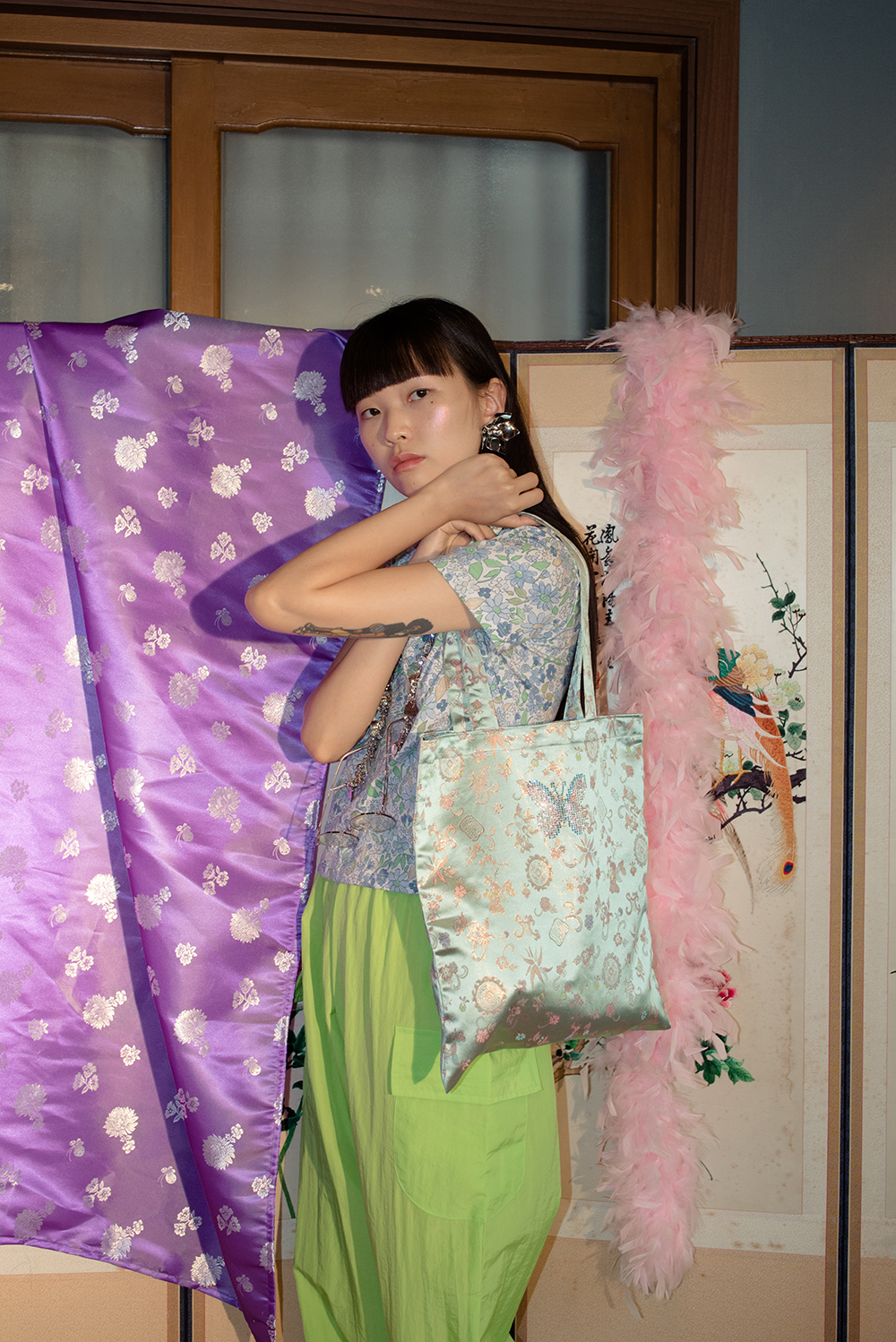 (再入荷)BUTTERFLY HANBOK BAG