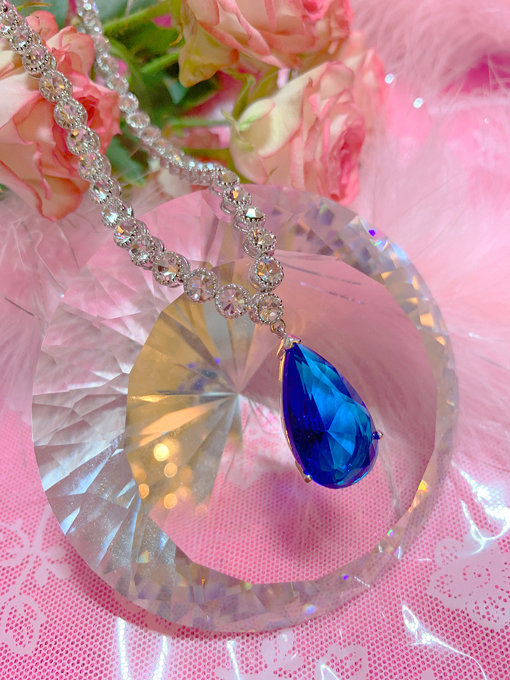 WATER DROP SAPPHIRE NECKLACE