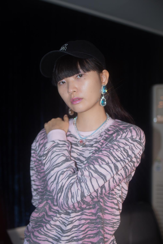 (skyblue) crystal drop earring & pierce