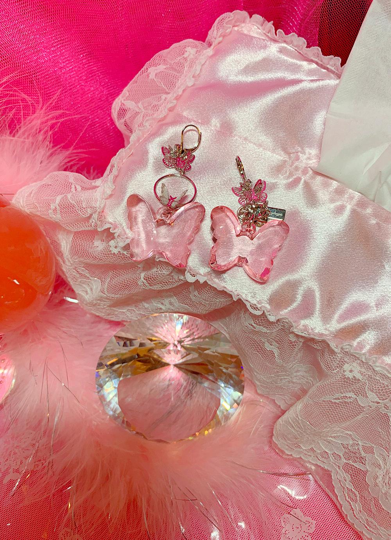 BUTTERFLY PINKY EARRING & PIERCE