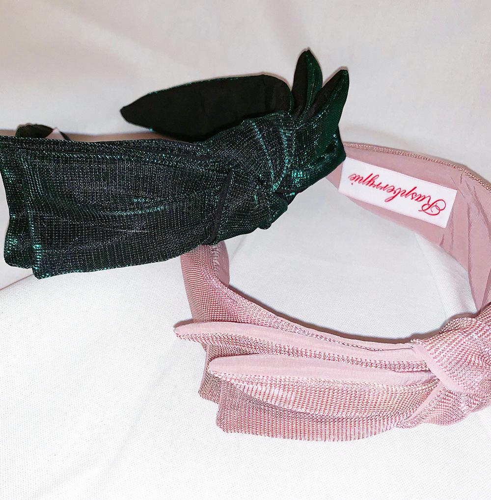 (pink) ribbon mesh hairband