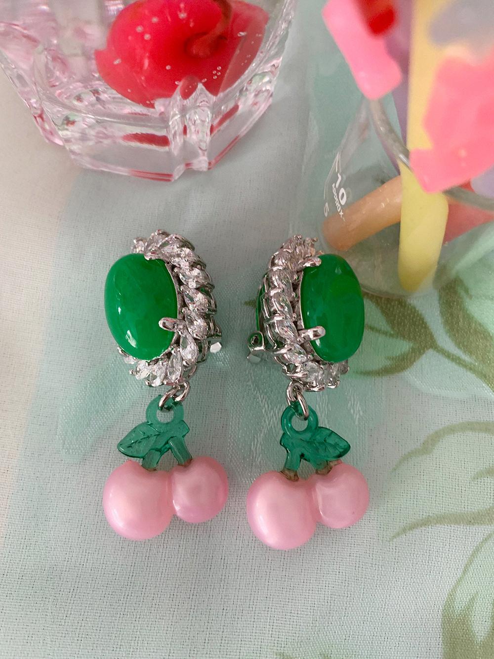 (再入荷)jade cherry earring & pierce