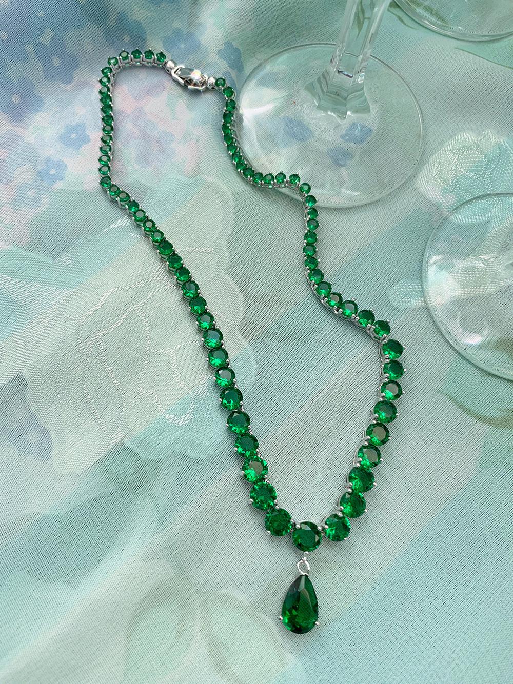 (green) drop choker