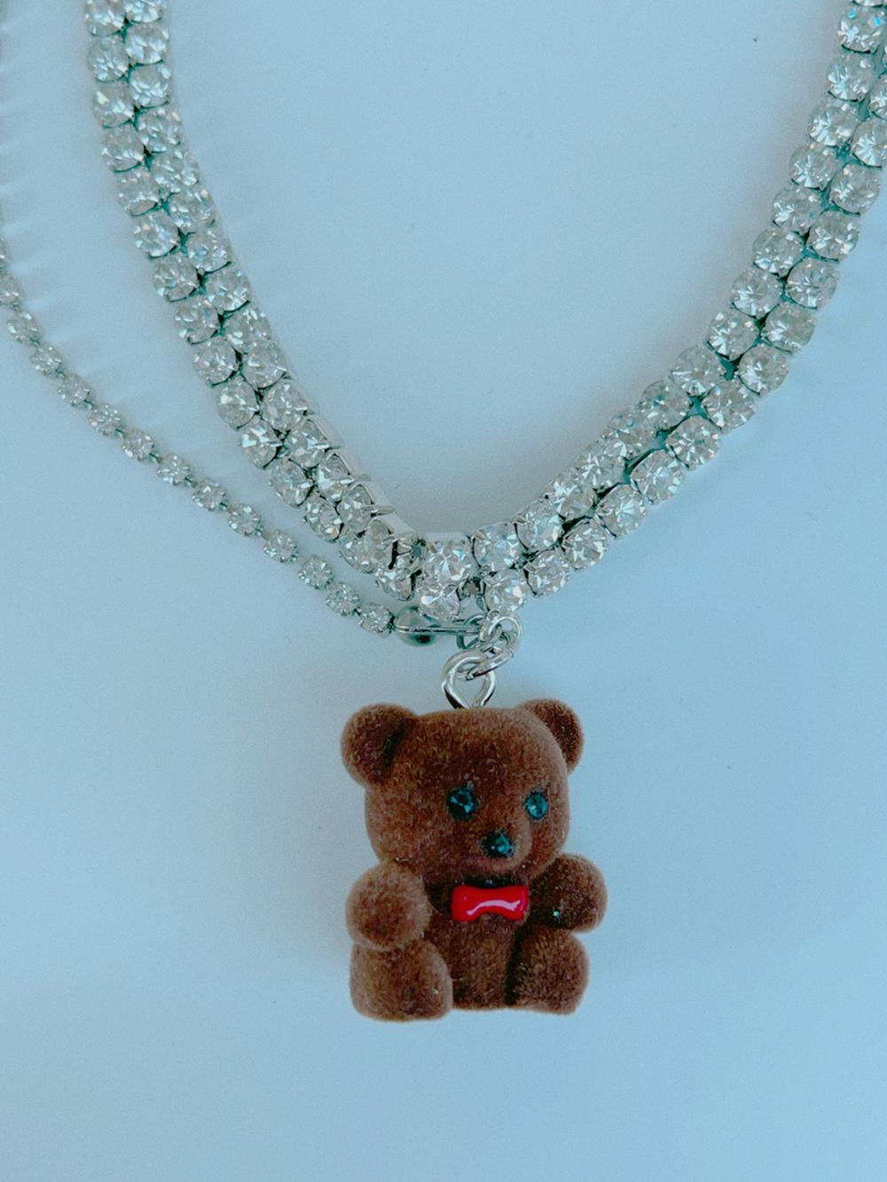 teddy bear asymmetry choker