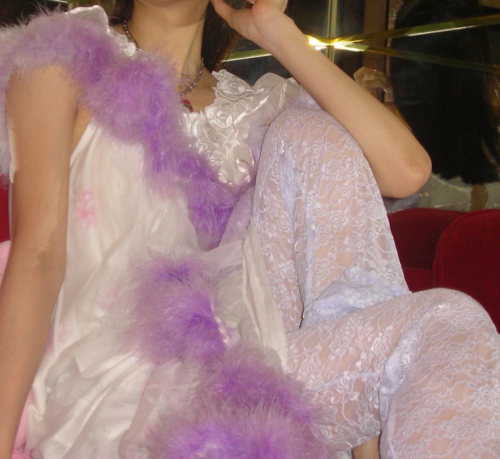 (4次入荷) (rsp made) lavender baby rose lace frill pants