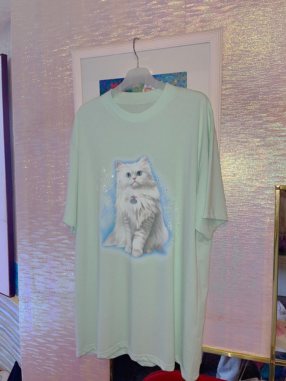 (4次入荷) (rsp made) mint twinkle kitty tee shirt