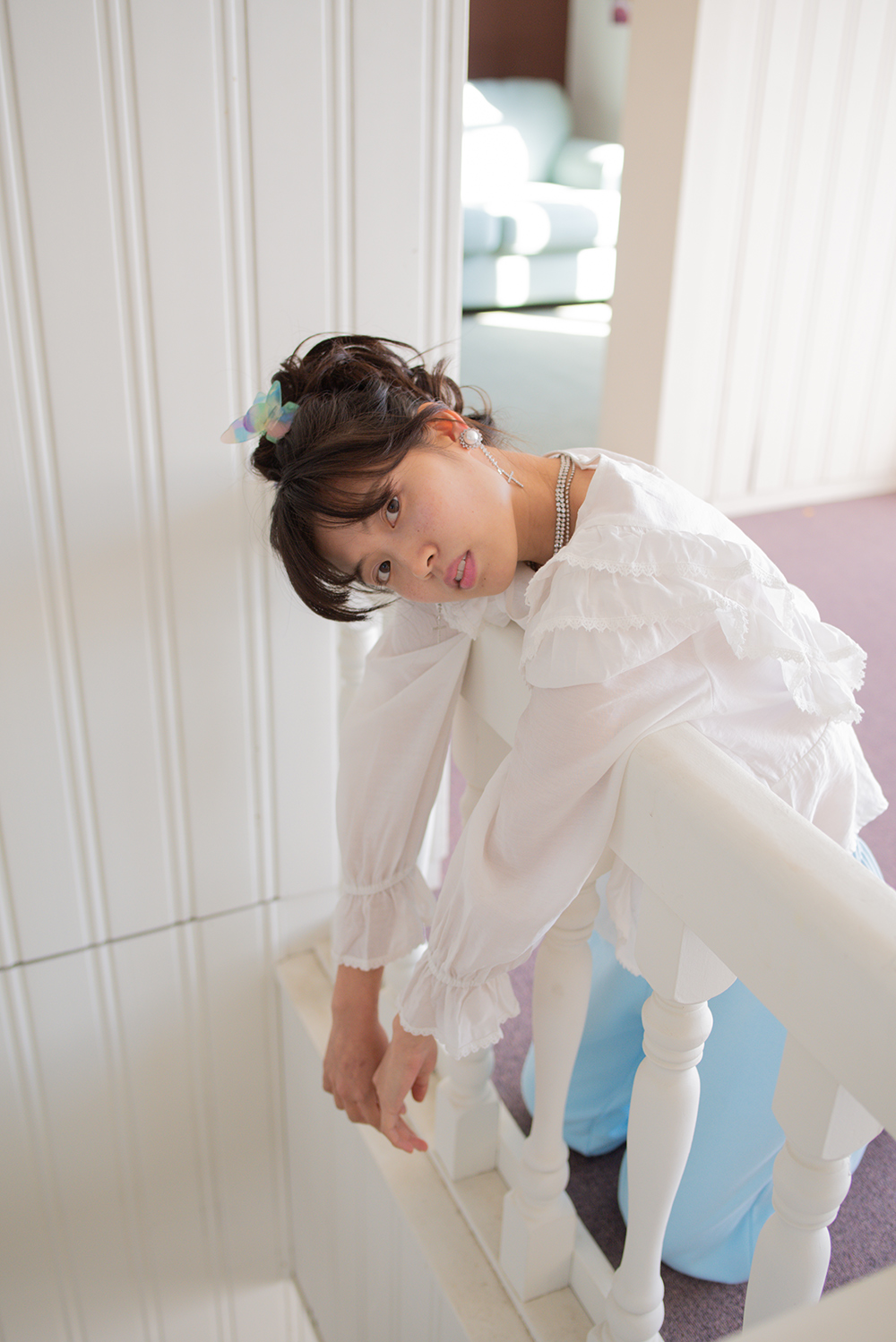 frill strap blouse