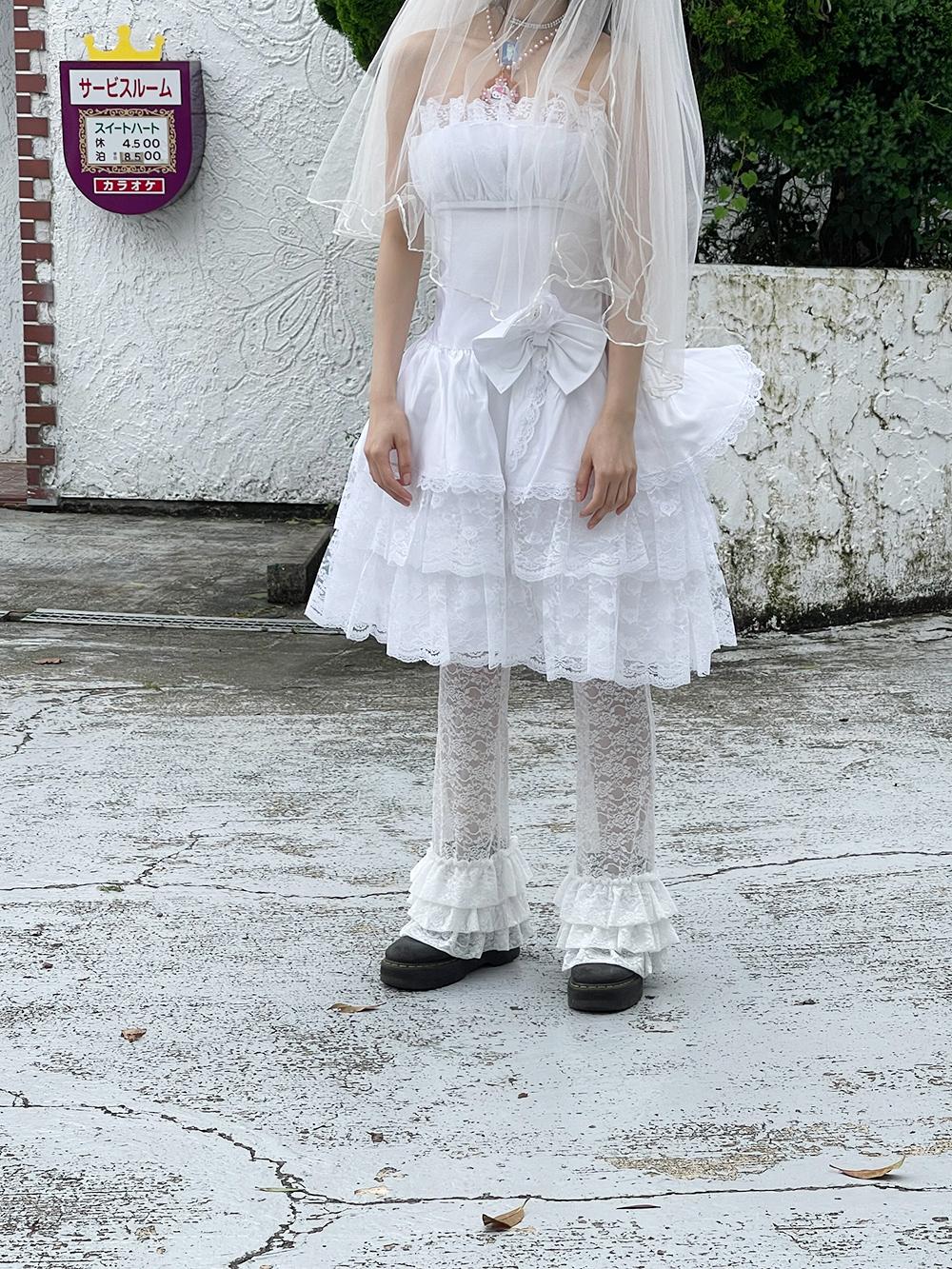 (4次入荷) (rsp made) ivory baby rose lace frill pants