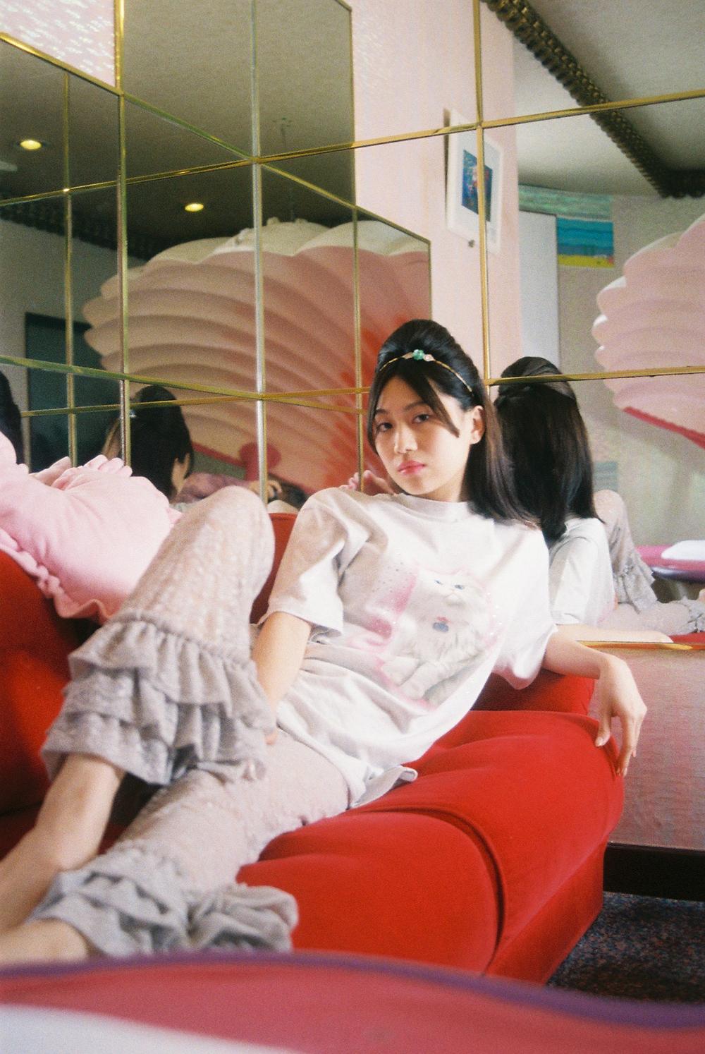 (4次入荷) (rsp made) gray twinkle kitty tee shirt